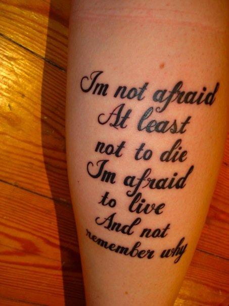 queen lyrics tattoo - photo #14
