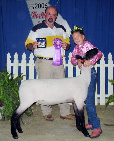 Abbi, the prize winning lamb. Baaaa!