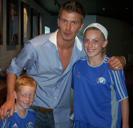 This is when I met David Beckham