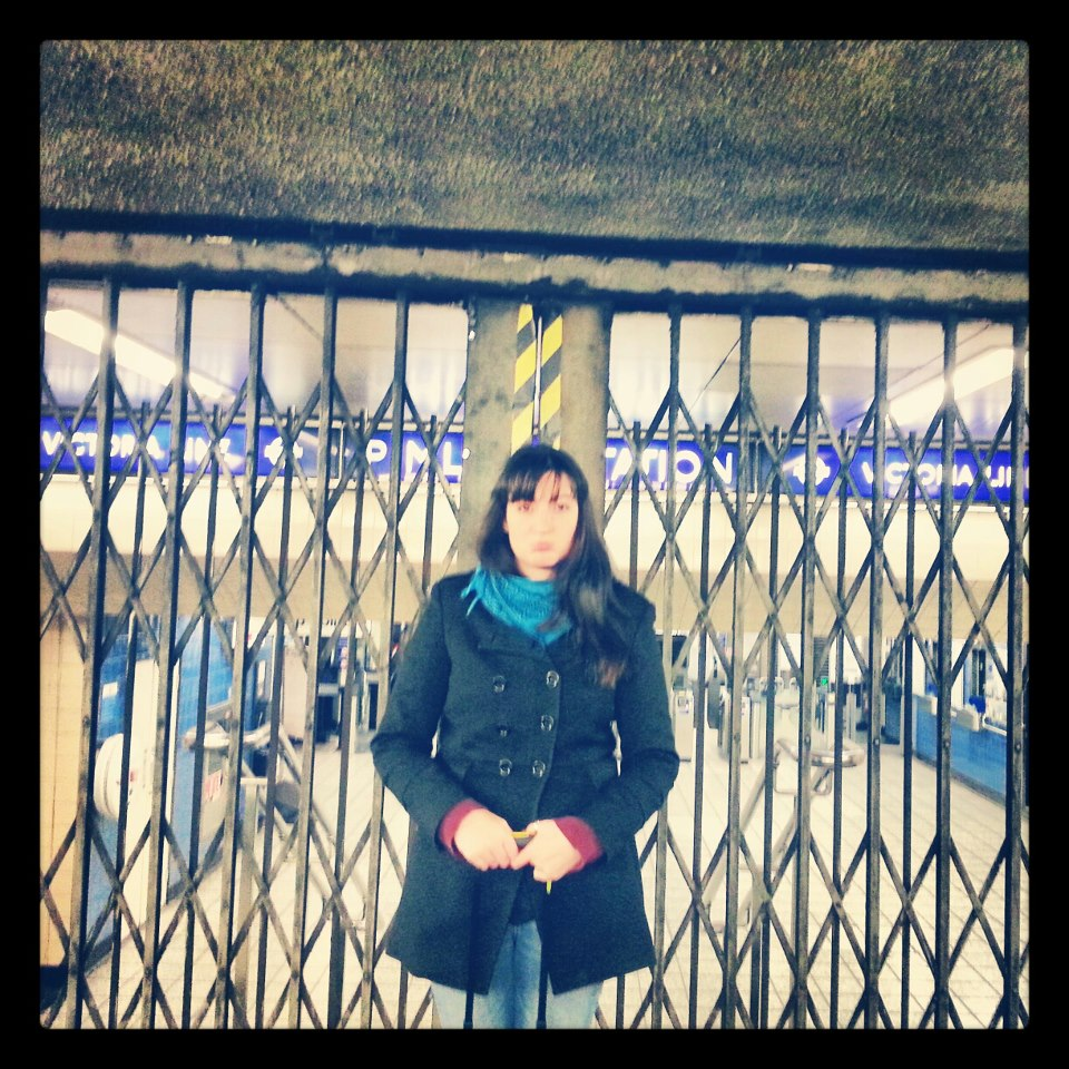 Waiting for Pimlico Station to open