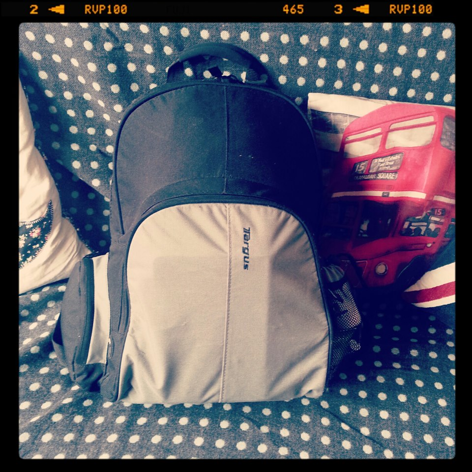 My bag for three whole days away!