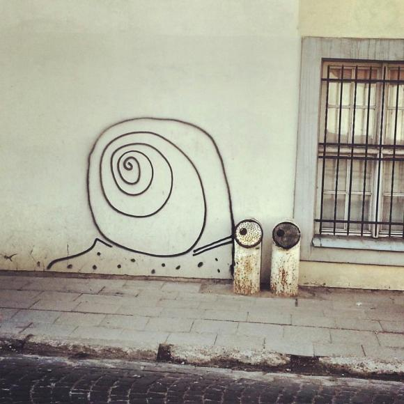 Just one of the cool examples of street art around the city