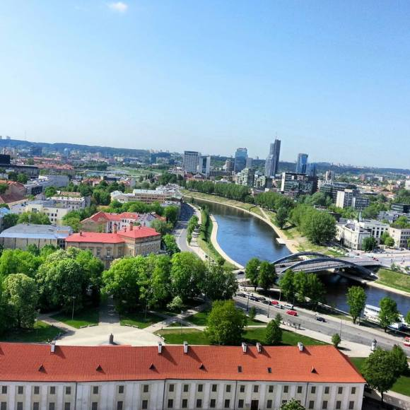 The view from Gediminas' Tower