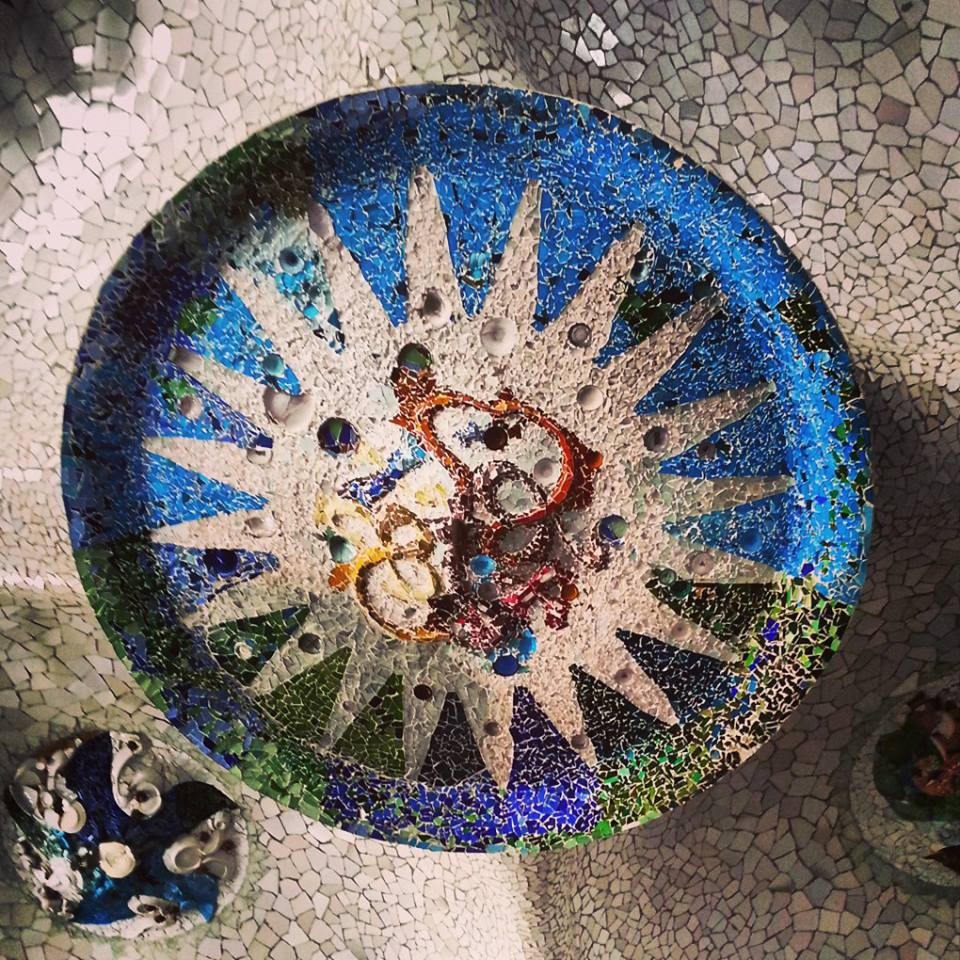 The ceiling at Parc Guell
