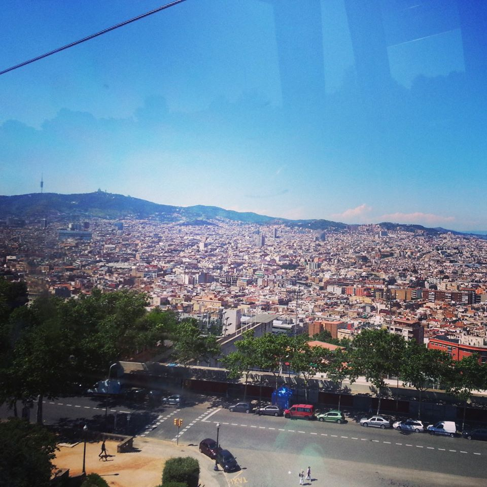 On the way up to Montjuic