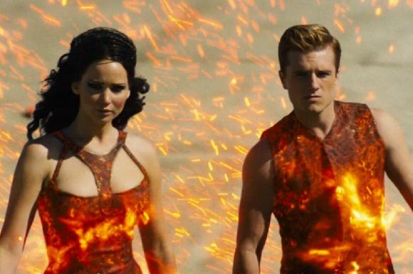 Katniss was worried Cinna had taken the disco inferno theme a step too far