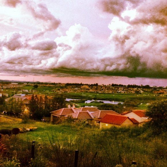 Look out over the Highveld just before a thunder storm