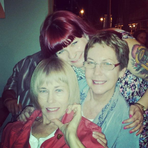 Marvel at the amazing genes I am blessed with (My mum and my aunt... both in their 60s!)