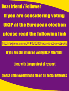 Change profile picture on socialmedia to this picture the day before Euro elections