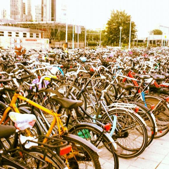Bikes outside Sloterdijk Station