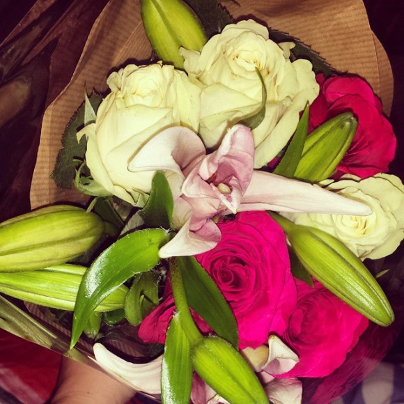 Mr O bought me these amazing flowers for my birthday