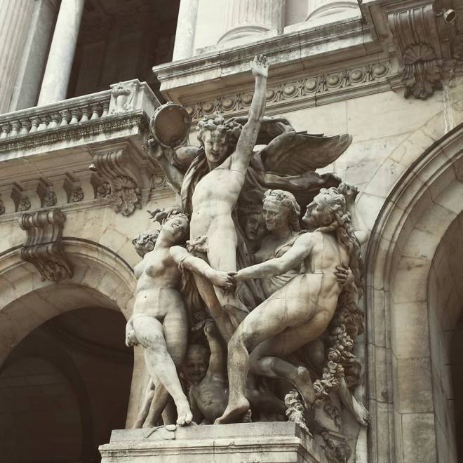 This statue at the Opera House represents the art of dance and was highly controversial at the time