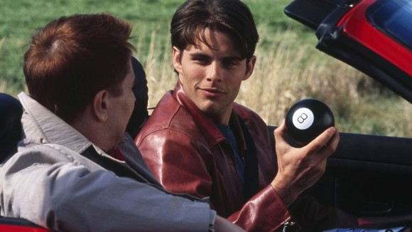 Eight ball, will shiny brown leather jackets still be in fashion in 2015?