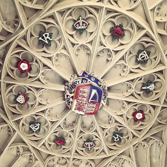We checked out all the Royal badges on the ceiling of the entrance