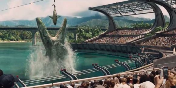Mosasaurus... will it fit in our bath?