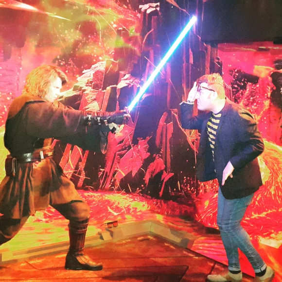 Mr O tried to get Anakin Skywalker to give him directions to the cantina