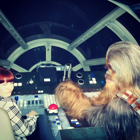 I wasn't impressed with Chewy's piloting skills