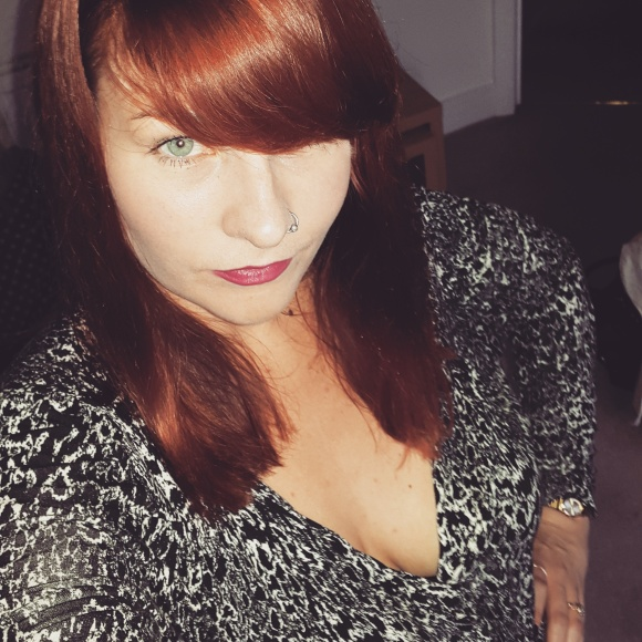 On this day I went to a leaving party after work so I decided to dress up a little and well, there was cleavage...